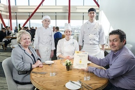 CAVC restaurant The Classroom first AA College Rosette winner in Wales January 2017